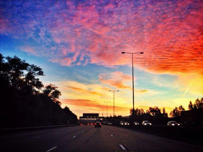 Nice early morning sky. Skyporn Clouds Sunrise Magic Hour