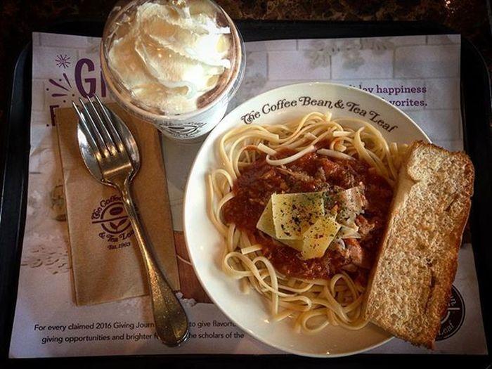 12/01/2015 CBTL Cbtlph Cbtlphilippines Originalmochafrappe Originalmochaiceblended Originalmocha Spicytunalinguine Pasta