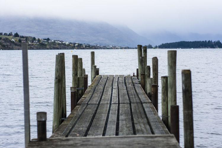 Pier leading towards sea