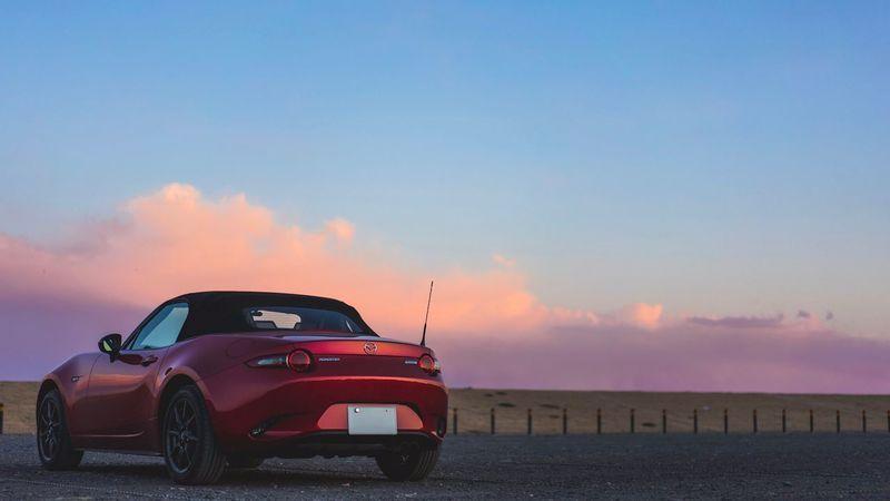 けっこうお気に入り Gradation Mx5 Mazda Miata Roadster Car Land Vehicle Transportation Sky Sunset No People Outdoors Nature Day