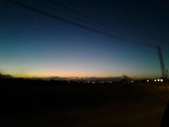 Horizon Sunset Long Drives The Lookout Capital Trinidad Port Of Spain Blurry Light And Shadow Mobile Photography