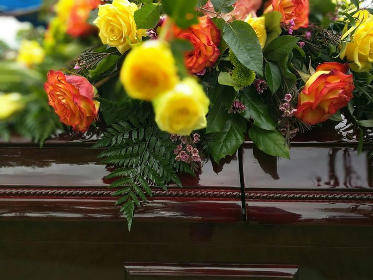 Cemetery Mourn Flowers Floral Casket Funeral