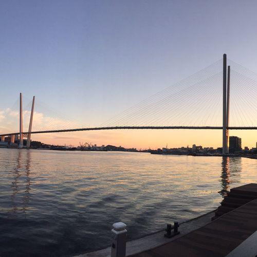 City Vladivostok Russia Gold Bridge