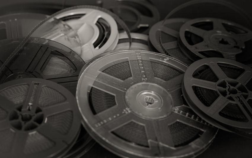 Heap of super 8 mm film reels Black And White Film Filmstrips Heap Home Entertainment MOVIE Reel Reels Roll Super 8 Vintage