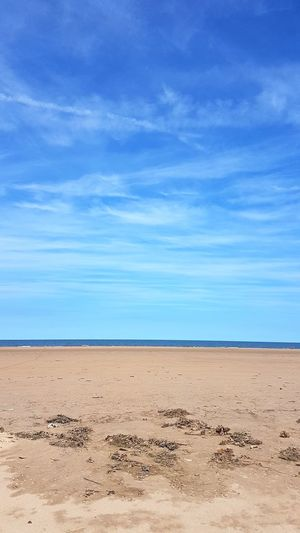 Beach Sand Nature Scenics Landscape Sea Sky Blue Outdoors Beauty In Nature Cloud - Sky Salt - Mineral Water Tranquility Outdoor Pursuit Day Horizon Over Water Sun Holkham Holkham Beach Norfolk No People Summer Tranquil Scene Tranquility