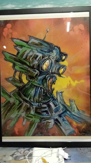 Brobot. Spray and Ink-marker