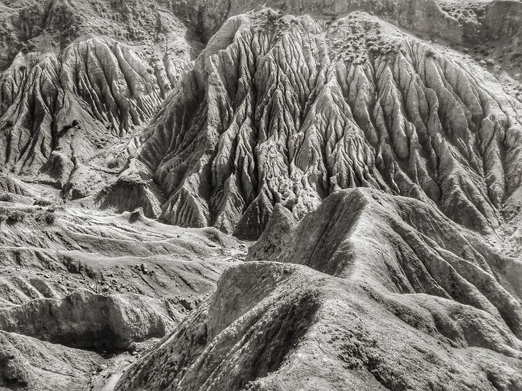 Bad lands Bad Lands Morocco Beauty In Nature Black And White Day Eroded Landscape Erosion Geology Landscape Mountain Nature No People Outdoors Physical Geography Textured
