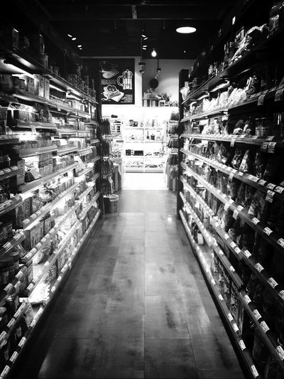 SUPER Market Food Black And White