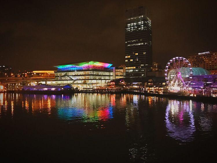 Sydney, Australia Night Illuminated City Architecture Building Exterior Travel Destinations Tourism Built Structure Modern