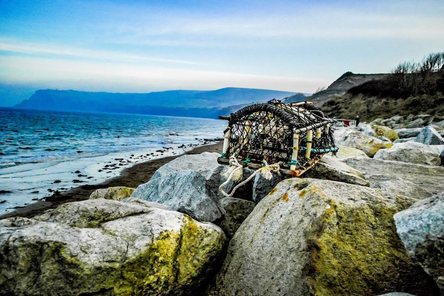 Fishing Whitby Fishing Village Crab Cage Box Rock Beach Sea Landscape Spring Seascape Old Historic History Nature