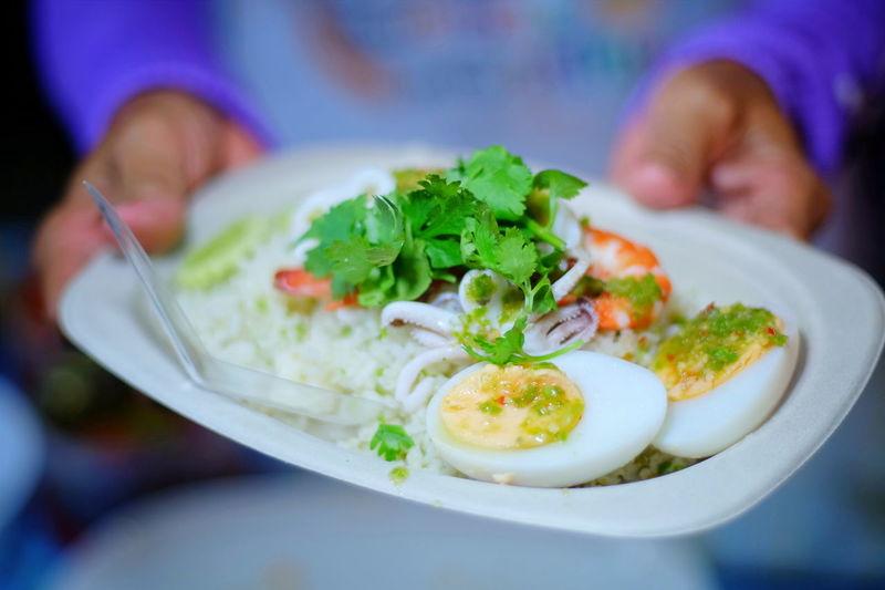 boiled egg rice