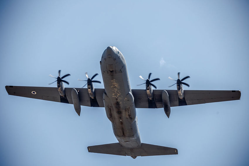 Air Vehicle Airplane Airshow Aviation Aviationphotography Blue C-130 Hercules C-130J Clear Sky Day Flying Israeli Air Force Lockheed Martin C-130 Hercules Low Angle View Military Military Airplane No People Outdoors Sky Super Hercules Transportation