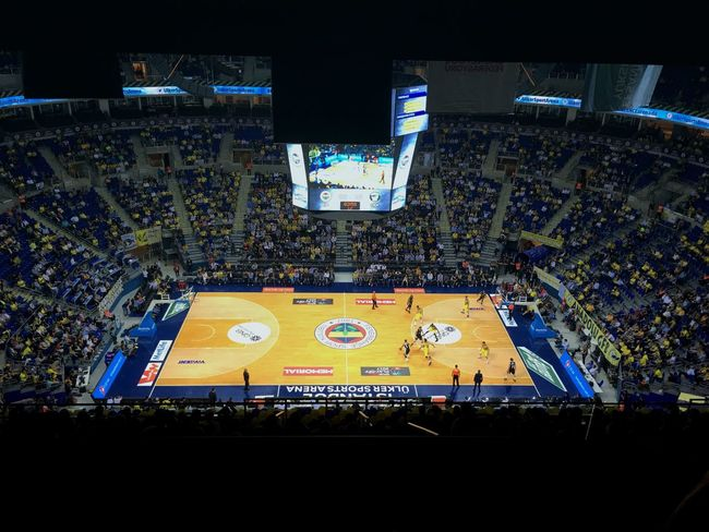 Fenerbahce  Fener ülkersportsarena Stadium Crowd Stage - Performance Space Sport Performance People Day Basketball Champions