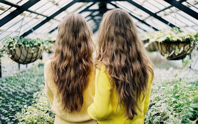 Film Film Photography Greenhouse Long Hair Nature One Person One Woman Only One Young Woman Only Only Women Outdoors People Real People Rear View Standing Twins Women Yellow Young Adult Young Women EyeEm Selects Fresh on Market 2017 Breathing Space Investing In Quality Of Life Paint The Town Yellow Paint The Town Yellow EyeEm Ready   The Portraitist - 2018 EyeEm Awards International Women's Day 2019
