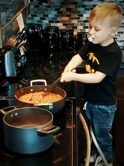 Lil Chef Cooking Cooking Pan Cooking At Home Cooking Dinner Toddlerlife Toddler Boy Chef At Work Check This Out Darryn Doyle Kitchen Art Growing Up Stove Indoors  Preparing Food Breakfast Bread Sweet Food Prepared Food Stirring Skillet- Cooking Pan Saucepan Cooking Utensil Burner - Stove Top