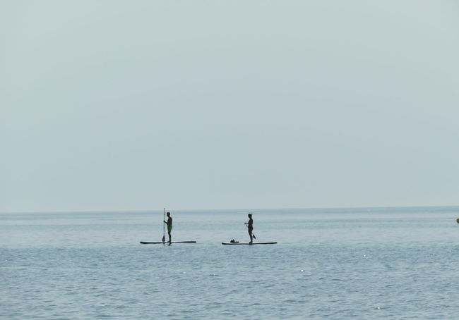mínimo esfuerzo Relax The Purist (no Edit, No Filter) No Edit/no Filter Summer Sports Paddleboarding Sea Full Length Water Silhouette Oar Horizon Over Water Sky Calm