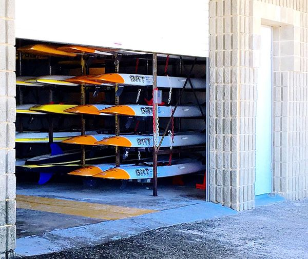 Cottesloe Beach Kayaks Beach Recreation Sport Water Recreation Lifeguard Kayak Surf Life Saving Surf Life Water Safety Kayaking Kayaks In Racks Orange Racks Kayak Storage Boat Water Sports Ocean Ski Kayak Sea Kayak Cottesloe Beach Indiana Tea House Australia