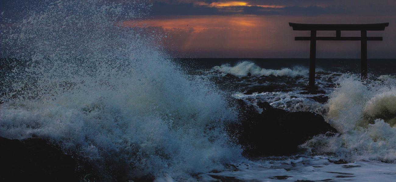 Early In The Morning Ocean TORII Ooarai 大洗 Ibaraki-Japan