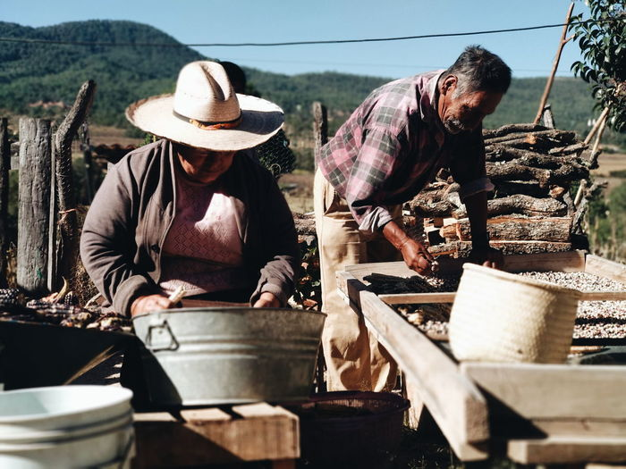 People working