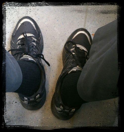 Schuhwerk An Verschiedenen Menschen