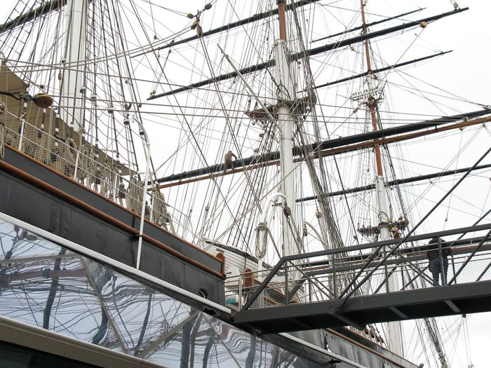 Cutty Sark Greenwich.  Greenwich Park Day Great Place To Visit History Low Angle View Mast Metal Mode Of Transportation Nautical Vessel No People Outdoors Pole Rope Sailboat Ship Sky Transportation Travel