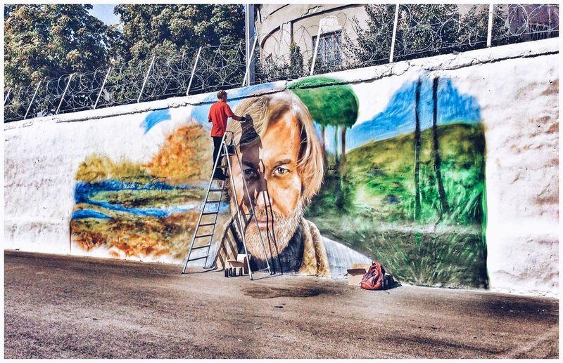 Набережная ... Россия Enjoying Life UNITED_HDR Graffiti