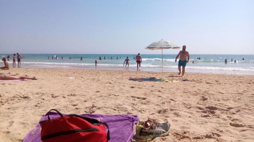 Beach Sand Vacations Incidental People Summer Sea Outdoors Lifestyles Travel Destinations Leisure Activity Elpalmar Cádiz, Spain Relaxing Moments