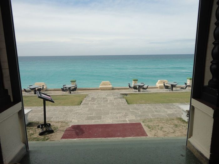 Door to caraiben sea Caraib Sea Terrace Restaurant Water Sea Sky Horizon Over Water Horizon Day Scenics - Nature