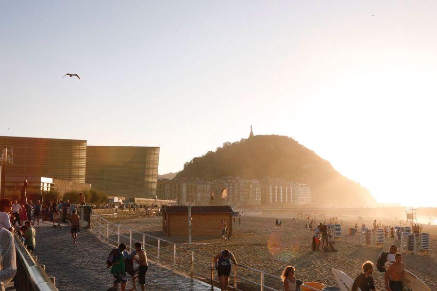Sommergefühle San Sebastian Donosti  Zurriola Beach Basque Country Sunset