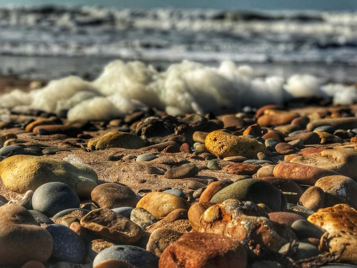 Beach Sea Shore Pebble Pebble Beach Water Nature Close-up No People Outdoors Day Wave