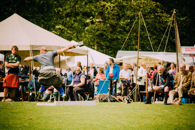 Events Fun Highland Games Kilt Leisure Activity Lifestyles Real People Scotland Spectator Spectators Sport Sports Sports Photography Throwing  Tradition Weight