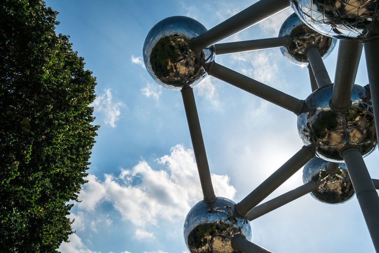 Architecture Atomium Close-up Day Low Angle View No People Outdoors Sky Tree