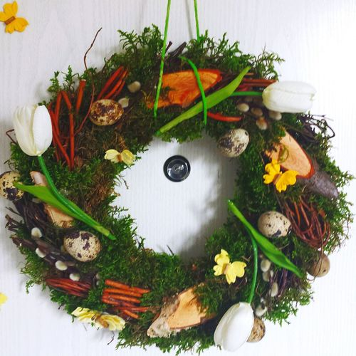 Easter Ready Hello World Helloworld Colourful Farbe Türkranz Selfmade Selbstgemacht Osterkranz Türschmuck Osterschmuck Osterdekoration Easterdecoration Easter Ostern Happy Easter Frohe Ostern Good Morning Urban Spring Fever Handmade For You