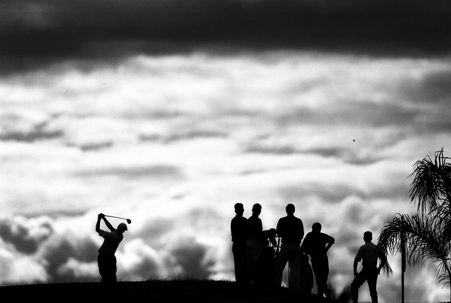 Golf Silhouette Leisure Activity Golf Sports Sports Photography