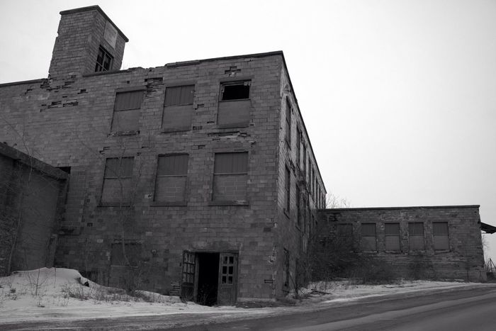 Blackandwhite B&w Door Dark Architecture Abandoned Buildings Abandoned Broken Art Building Outside Canon Factory New York Sl1 Drop The Stop Bricks The Week Of Eyeem Cold