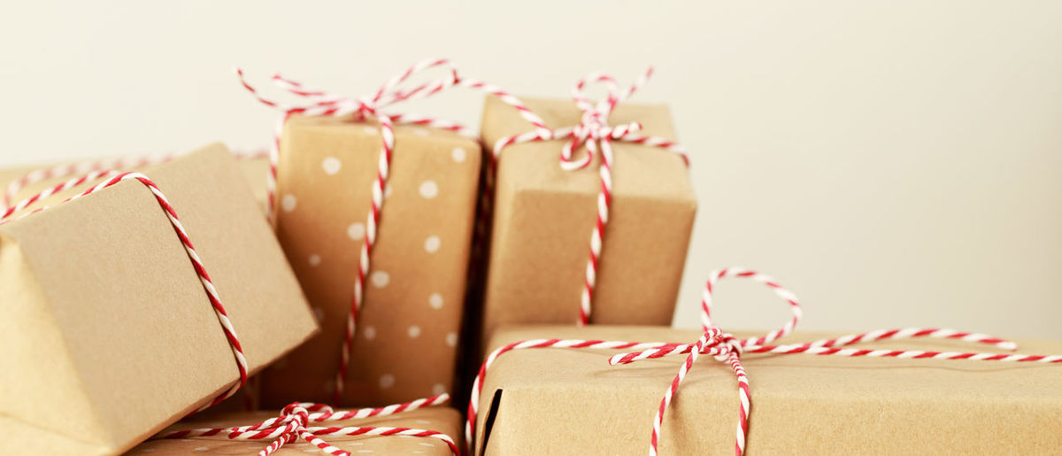 Close-up of christmas ornaments in box
