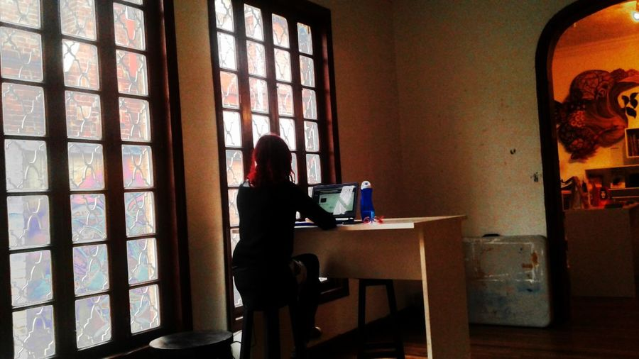 Only Women Window Indoors  People Office Studio Women Day One Woman Only One Person Side View Business Finance And Industry Adult First Eyeem Photo