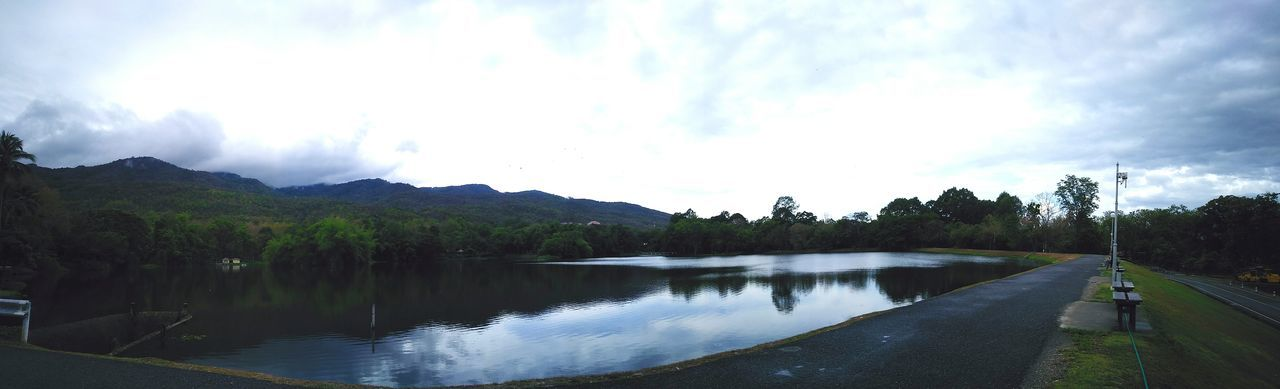 panorama rainy day. Lake Landscape Mountain Outdoors Cloud - Sky No People Reflection Sky Nature Water Tree Tranquility Scenics Day