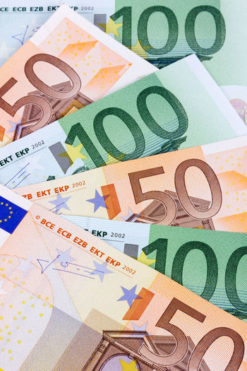 100 50 Background Banking Banknote Banknotes Business Cash Cashmoney  Close-up Currency Currency Euro Euro Currency Europe Finance High Angle View Indoors  Money No People Note Paper Currency Savings Wealth