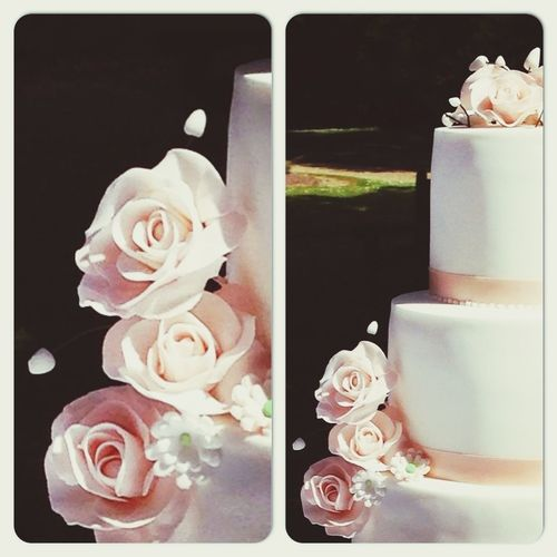 Weddings Cake Flowers White SugarSugarNantes
