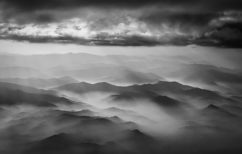 Above the clouds Sunlight Sunrays Beauty In Nature Blackandwhite Cloud - Sky Clouds Day Flying Fog Hazy  Idyllic Mountain Nature No People Outdoors Scenics Sky Storm Cloud Tranquil Scene Tranquility Weather