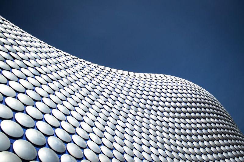 Pattern Pieces Birmingham Selfridges Birminghambullring Architecture Pattern, Texture, Shape And Form Cirlces Blue Sky Rhythm Nofilter RePicture Growth Blue Wave