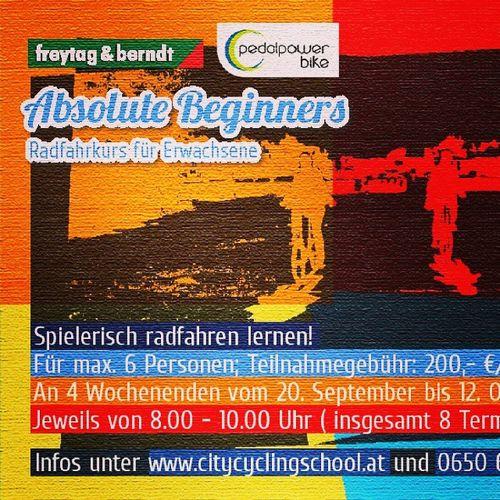 Absolute Beginners - Radfahrkurs für Erwachsene Wochenendkurs Herbst 2014