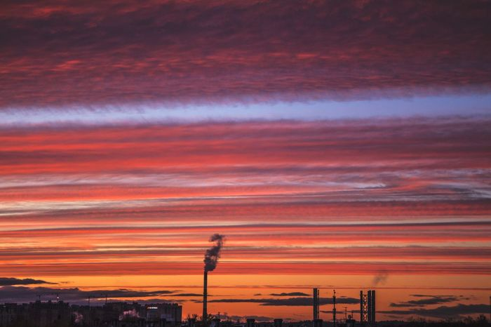 the place I live Boiler Room Smoking Pipe New District Under Construction New District Urban Skyline Horizon Evening Stripes Pattern Colorful Sky Urban Landscape Urbanphotography Sky Clouds And Sky Dayoff Technology Sunset Electricity  Oil Pump Sky Landscape EyeEmNewHere