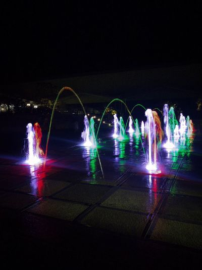 Nightphotography Waterparkfun Playground Photography In Motion Fountains WaterFountains Colors