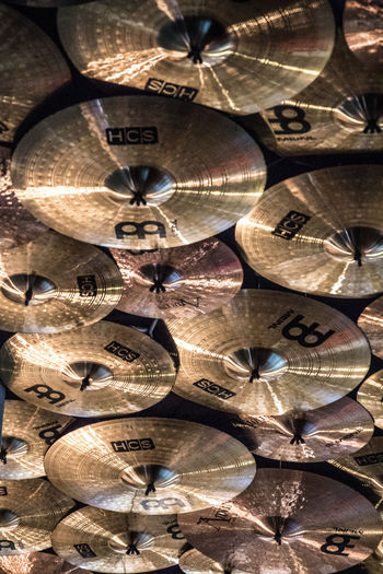 Ceiling Hard Rock Cafe Music Rock'n'Roll Cymbals Deocration Drumms Hanging