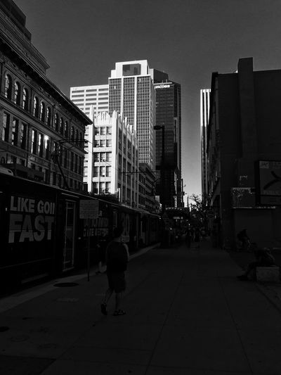 American Dreaming Architecture City Blackandwhite Photography Black And White Denver Colorado  Downtown Built Structure First Eyeem Photo City