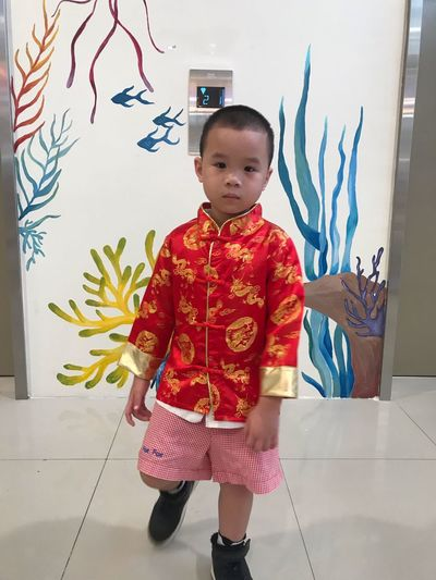 EyeEm Selects Childhood Child Front View One Person Real People Standing Innocence Males  Leisure Activity Casual Clothing Wall - Building Feature Indoors  Cute Lifestyles Full Length Portrait Men