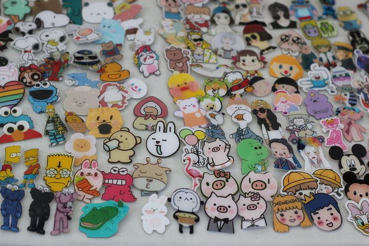 Full frame shot of toys for sale