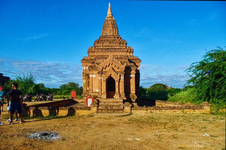 Pagoda Myanmar Burma Bagan Old Bagan Pagoda Landscape Architecture Religion Outdoors Travel Destinations Nature Beauty In Nature